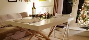 Convertible coffee table, ideal for special occasions