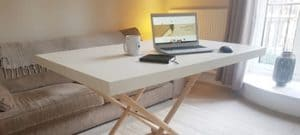 Convertible coffee table, standing-desk and workstation