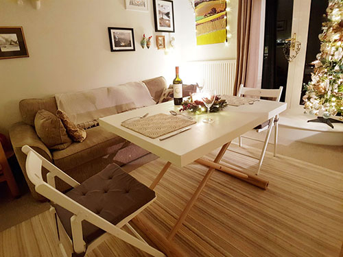 Convertible dining table