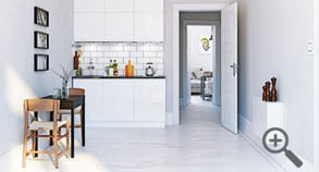 Small home: Lay the same flooring throughout