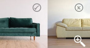 Small home: Buy furniture with exposed legs