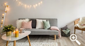Small home: Avoid hanging ceiling lights, use lamps or candles