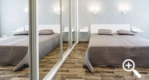 Small home: Make use of large mirrors